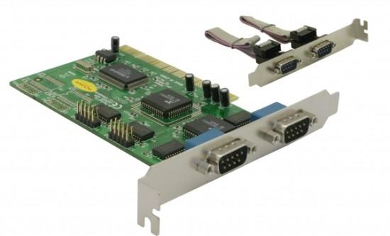 Delock adaptér PCI 4x sériový port - 89046