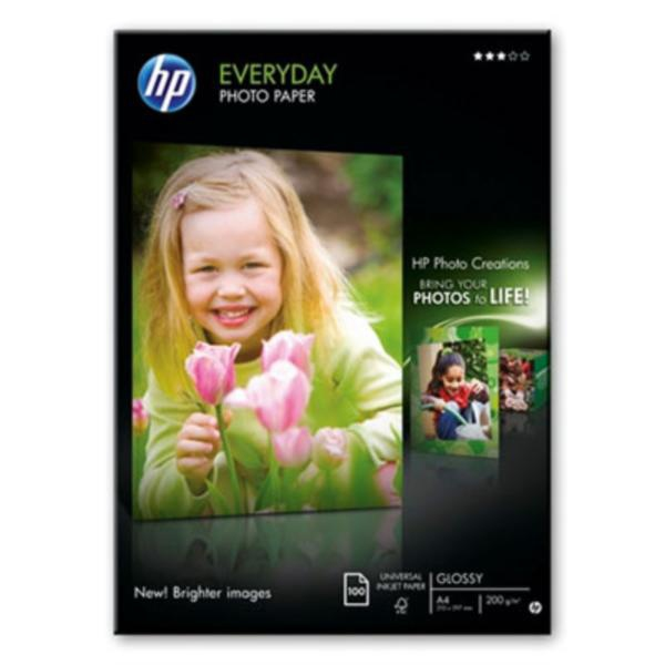 HP Q2510A Everyday Photo Paper, Glossy, A4, 100 listů, 200 g/m2 - Q2510A