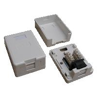 DATACOM Datová zásuvka UTP CAT5E 1xRJ45 na omítku (protiprachová) bílá - 2333