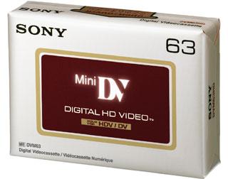 SONY Mini DV kazeta pro HDV kamery, 63 minut - DVM63HDV