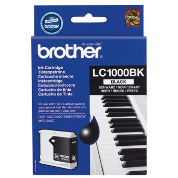 LC-1000Bk (ink. černý, 500 str. @ 5%) pro DCP-330C,DCP-540CN - LC1000BK