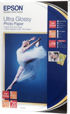EPSON paper 10x15 - 300g/m2 - 20sheets - photo ultra glossy - C13S041926