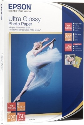 EPSON paper 13x18 - 300g/m2 - 50sheets - photo ultra glossy - C13S041944