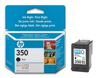 HP CB335EE Ink Cart No.350 pro OJ 5780, 5785, 4,5ml, Black - CB335EE
