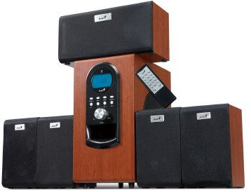 Genius repro SW-HF 5.1 6000, 200W RMS, LCD displej, dark wood - 31730022101