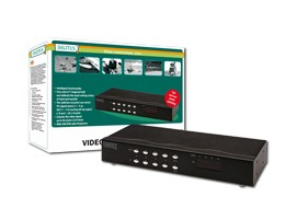 Digitus Intelligent Video Matrix 4x4, with audio, 4 x VGA+Audio Input 4 x VGA+Audio Output 350 MHz, - DC-48101