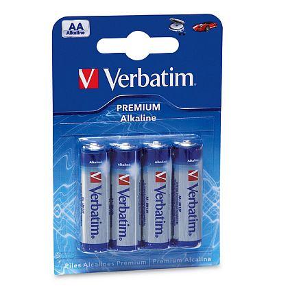 VERBATIM alkalické tužkové baterie R06, AA, 1,5V, 4ks - 49921