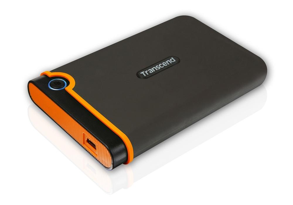 """TRANSCEND 500GB StoreJet 25M2, USB 2.0, 2.5"""" Externí Anti-Shock disk, šedo/oranžový - TS500GSJ25M2"""