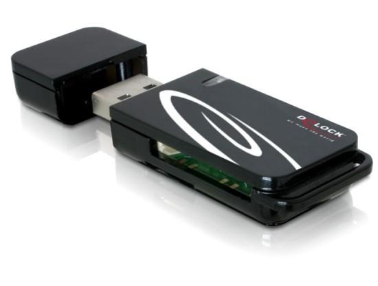 DeLock Card Reader USB 2.0 18in1 2xSlots - 91667