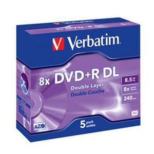 VERBATIM DVD+R(5-pack)DoubleLayer/Jewel/8x/8,5GB - 43541