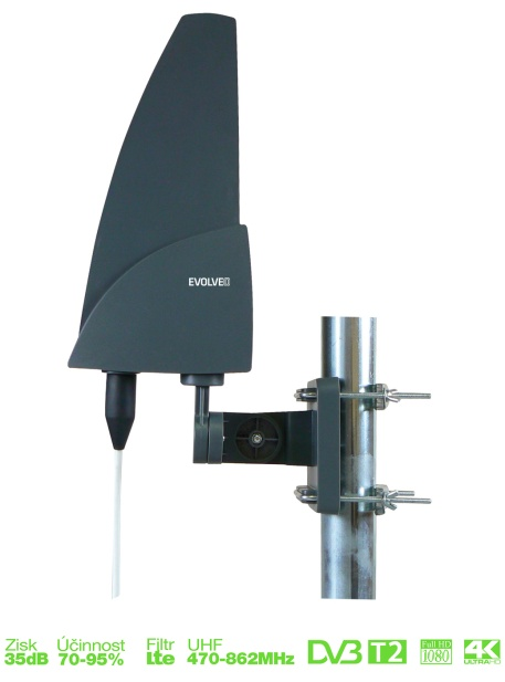 EVOLVEO DVB-T aktivní venkovní anténa SHARK 35dB - SHARK01