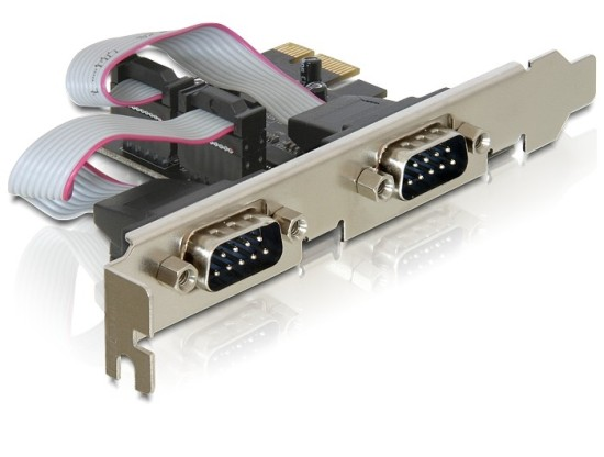 Delock adaptér PCI Express x1 2x sériový port + low profile - 89220