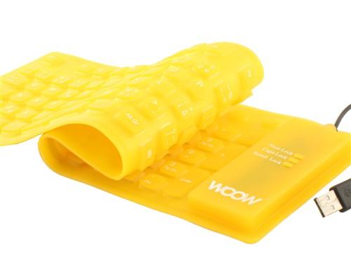 !!! AKCE !!! Woow Silikonová klávesnice žlutá - FLEX, USB, CZ layout - 035536