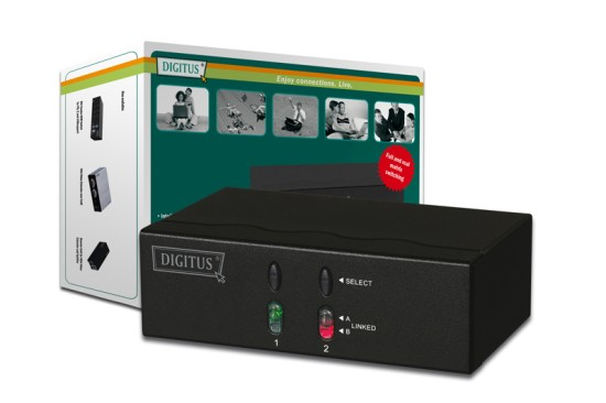 Digitus Intelligent Video Matrix 2x2, with audio2 x VGA+Audio Input <=> 2 x VGA+Audio Output 2 - DC-47100