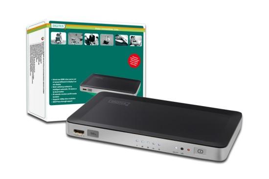 Digitus HDMI elektronický přepínač 5 => 1 - DS-45300