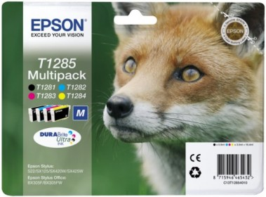EPSON cartridge T1285 (black/cyan/magenta/yellow) multipack (liška) - C13T12854010