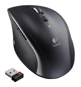 Logitech myš Wireless Mouse M705 nano, stříbrná, laserová, unifying přijímač, 5 tlačítek - 910-001950