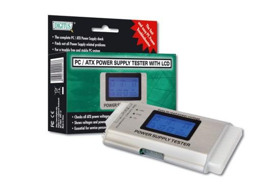 Digitus tester ATX zdrojů III (24-pin), LCD display - DA-70601