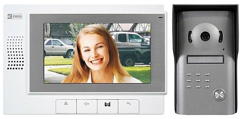 """Emos videotelefon RL-03M, barevný 7"""" LCD + dveřní kamera s 1 tlačítkem, bílý - 3010000101"""