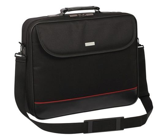 """Modecom brašna Mark na notebooky do velikosti 15,6"""", kovové přezky, černá - TOR-MC-MARK-15,6"""