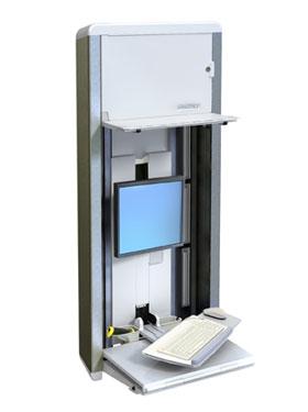 ERGOTRON StyleView® VL Enclosure, uzavíratelný flexibilní držák na zeď, na PC, Monitor, klávesnici a - 60-595-062