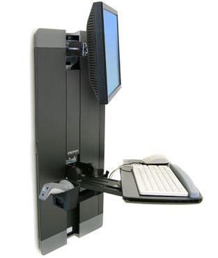 ERGOTRON StyleView® Vertical Lift, Patient Room (černý), držák na zeď posuvný, monitor, klávesnice , - 60-609-195
