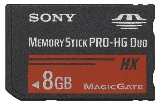 Sony MSHX8B Memory Stick PRO-HX Duo 8 GB, 50MB/s (240Mbps)* Read/Write - MSHX8B