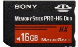 Sony MSHX16B Memory Stick PRO-HX Duo 16 GB, 50MB/s (240Mbps)* Read/Write - MSHX16B