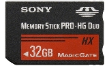 Sony MSHX32B Memory Stick PRO-HX Duo 32 GB, 50MB/s (240Mbps)* Read/Write - MSHX32B