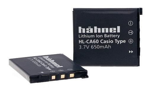 Hähnel HL-CA60 - Casio NP-60, 650mAh, 3.7V, 2.4Wh - 1000 196.4