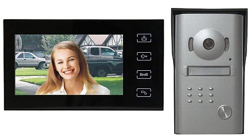 """Emos videotelefon RL-10M, barevný 7"""" LCD + dveřní kamera s 1 tlačítkem, černý - 3010000106"""