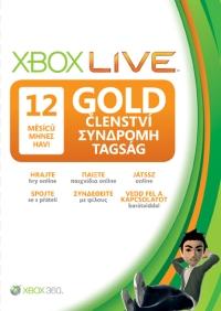 Xbox LIVE Gold karta 12 měsíců - 52M-00544