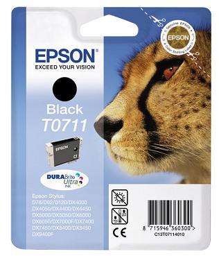 EPSON cartridge T0711 black (gepard) - C13T07114011