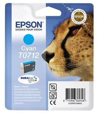 EPSON cartridge T0712 cyan (gepard) - C13T07124011