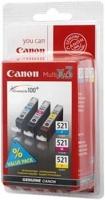 Canon cartridge CLI-521 C/M/Y MultiPack (CLI521CMY) - 2934B010