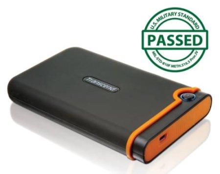 """TRANSCEND 1TB StoreJet 25M2, USB 2.0, 2.5"""" Externí Anti-Shock disk, šedo/oranžový - TS1TSJ25M2"""