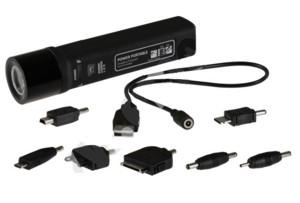 LED nabíjecí svítilna 1W (funguje i jako záložní zdroj energie 2200 mAh) - P4505