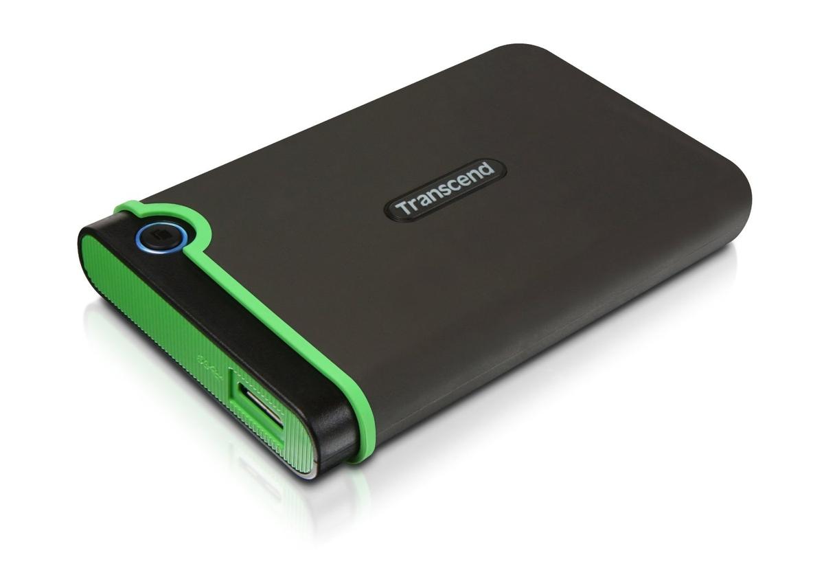 """TRANSCEND 1TB StoreJet 25M3, USB 3.0, 2.5"""" Externí Anti-Shock disk, šedo/zelený - TS1TSJ25M3"""