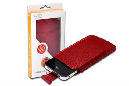 Digitus tenké pouzdro pro Iphone 4 a Ipod touch,12,5x7,9x0,3cm ,ČERVENÉ - DA-14007