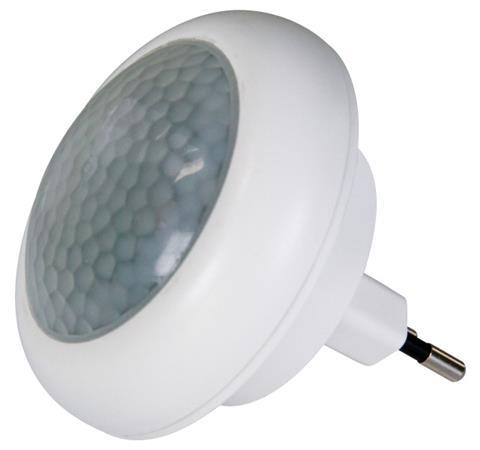 Emos LED noční světlo do zásuvky 230V, 8x LED, PIR, s detekcí pohybu - 1456000040