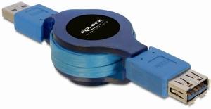 Delock USB 3.0 kabel prodlužující A/A samec/samice délka 1m samonavíjecí - 82649