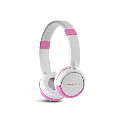 ENERGY DJ 310 White & Pink Freestyle,stylová circumauralní sluchátka s mikrofonem 108 dB,3,5mm - 387090