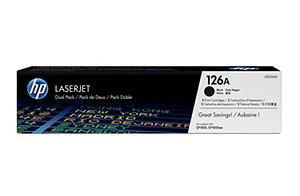 HP CE310AD Toner 126A pro CLJ CP1025/M275 (2x1200str), Black - CE310AD