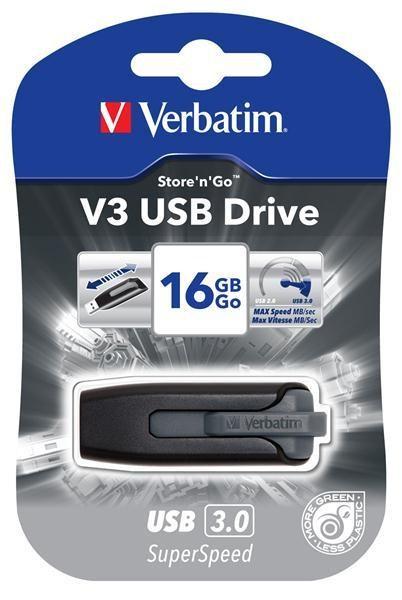 VERBATIM USB flashdisk Store .n. Go V3 16GB USB 3.0 - 49172