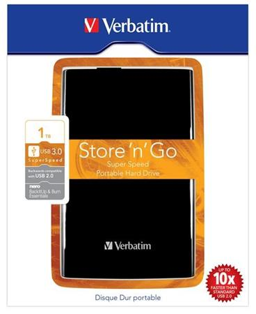 "Akce!!! VERBATIM HDD 2.5"" 1TB Store .n. Go USB 3.0 Black - 53023"