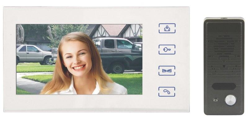 """Emos videotelefon RL-10B, barevný 7"""" LCD + dveřní kamera s 1 tlačítkem, bílý - 3010000110"""