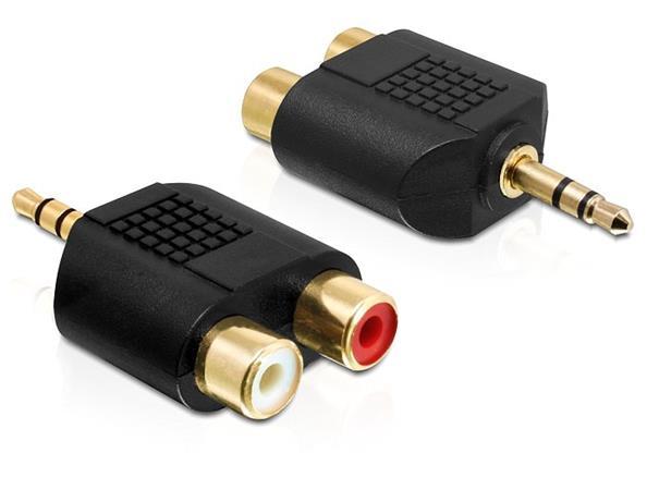 Delock audio adaptér stereo jack 3.5 mm 3 pin samec > 2 x RCA (CINCH) samice - 65365