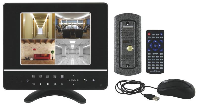 """Emos videotelefon CCTV, 8"""" LCD + dveřní kamera, LAN - 3010000111"""