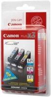 Canon cartridge CLI-521 C/M/Y MultiPack (CLI521CMY) SEC - 2934B011