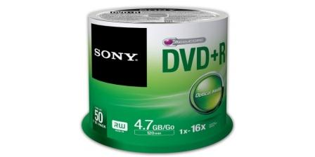 SONY DVD+R 4,7GB, 16x, cake box, 50 ks - 50DPR47SP
